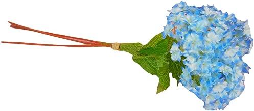 Eforstore 5Pcs Lifelike Artificial Hydrangea Mini Fresh Silk Flower Home Hotel Wedding Party Garden Floral Decor (Deep Blue)