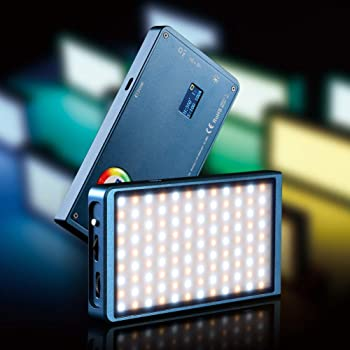 Pocket Portable Led Photography Phone SLR Camera Photo Fill Light Small RGB Full Color Special Effects Color : Black
