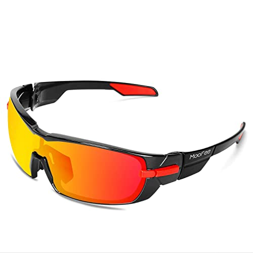ef056198d9 Moofee Polarized Sports Sunglasses with Rotatable Legs Cycling Glasses for  Men