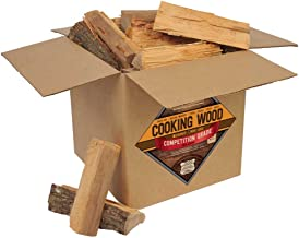 Smoak Firewood Cooking Wood Logs - USDA Certified Kiln Dried (8inch Pieces, 25-30lbs - Hickory)