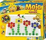 Lena 35613 Mosaik Steckspiel Set Biene Maja, Steckmosaik mit 80 farbigen Stecker, Mosaikstecker 15 mm, Mosaikspiel für Kinder ab 3 Jahre, Komplettset mit...