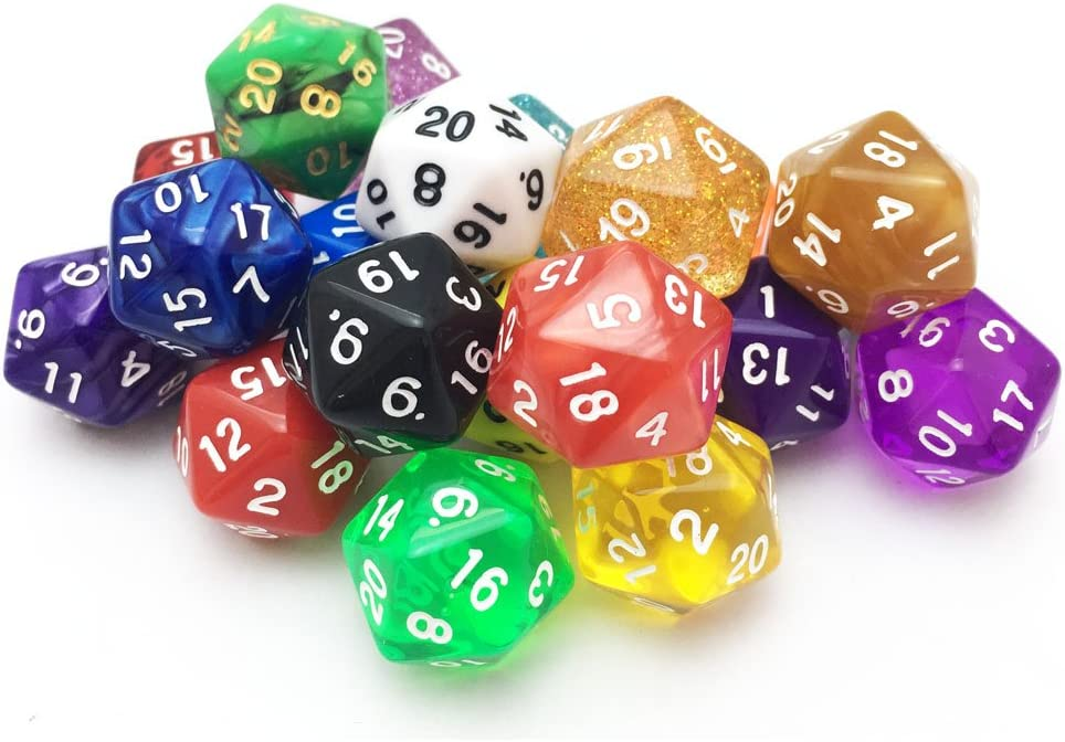 At the price SmartDealsPro 10 Pack of Random Color Polyhedral Dice DN Trust D20 for