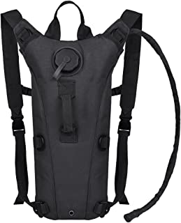 VBIGER Hydration Pack with 3L Bladder Water Bag Great for Hunting Climbing Running and Hiking (Black, One Size)