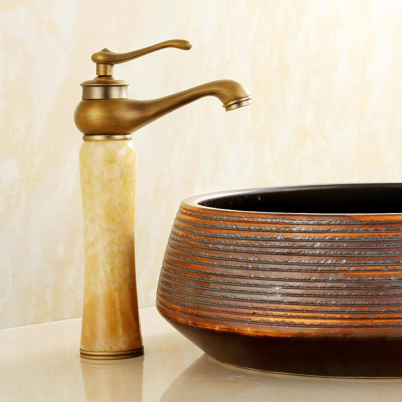 CZOOR Europischen stil kupfer antiken wasserhahn waschbecken hei und kalt roséGold badezimmerschrank Gold jade wasserhahn einlochmontage c462