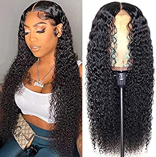 Water Wave Lace Front Wigs Human Hair for Black Women 150% Density Brazilian Wet and Wavy Virgin Human Hair Wigs 4x4 Curly...