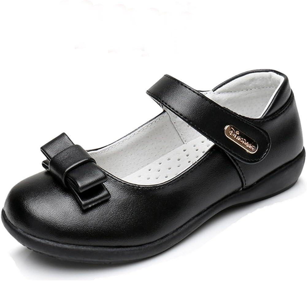 Chiximaxu Girl Uniform Leather Mary Jane Flat Shoes(Toddler/Little Kid/Big Kid)