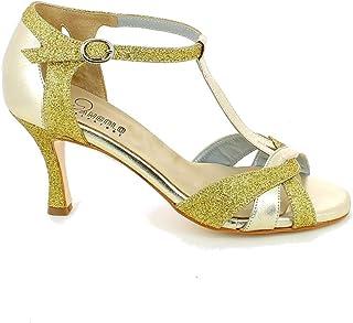 L'ANGOLO CALZATURE - Scarpa da Ballo Oro con Glitter