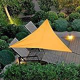 Tenda a vela impermeabile triangolare,Tenda parasole,Resistente e Traspirante,protegge dai raggi UV ed è resistente alle intemperie,per Esterni, Cortile, Giardino (arancione, 300 x 300 x 300 cm)