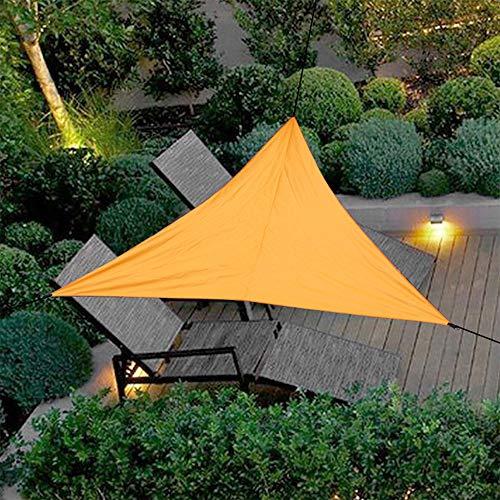 Goodbox Sonnensegel,Dreieck Sonnensegel 4 x 4 x 4 m,PES Polyester Wasserdicht UV-Schutz Sun Segel Wetterschutz für Garten BalkonTerrasse und Camping(Orange, 400 x 400 x 400cm)