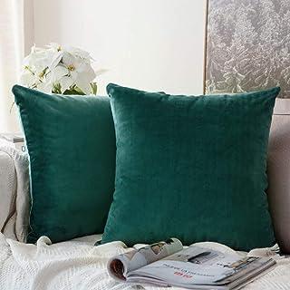 declumiere Solid Velet Square Throw Fundas de Almohada Funda de Almohada Funda de Almohada para sofá Suave cómodo Home Dec...
