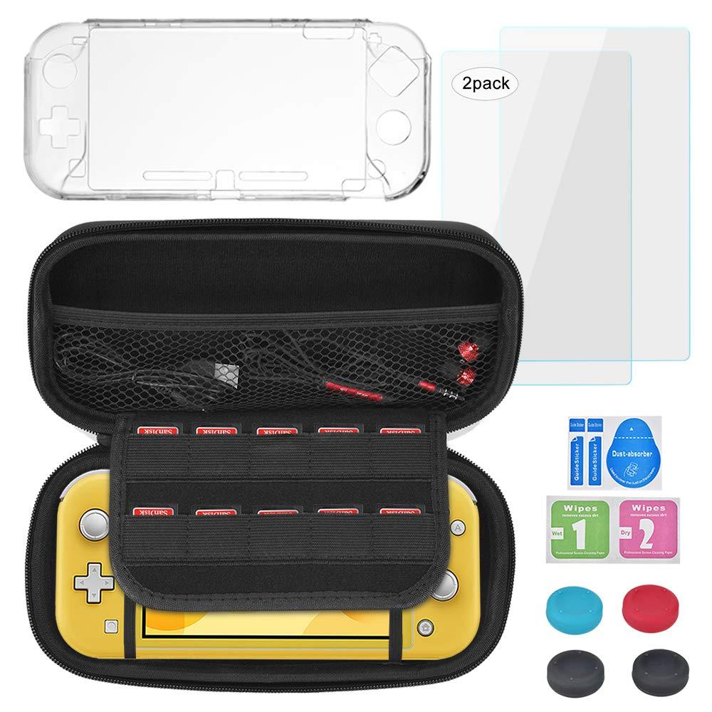 Kit de Accesorios para Nintendo Switch Lite(2019) Kit Protección Accesorios para Nintendo Swtich Lite Funda e Carcasa Transparente, 2 Protector de pantalla, 4 Apretones de Pulgar: Amazon.es: Videojuegos