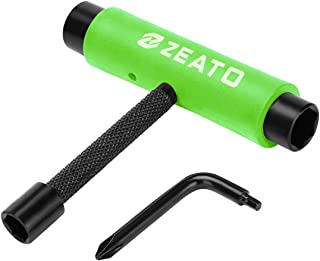 Zeato All-in-One Skate Tools Multi-Function Portable Skateboard T Tool Accessory with..