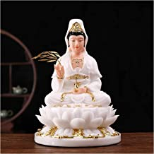Buddha Statue Exquisite Home Decoration 11.8 Inch Indoor Guanyin Buddha Statue Chinese Style Gifts Feng Shui Decor Artific...