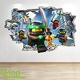 1Stop Graphics Shop Lego Ninjago-Smashed - 3D WANDTATTOO