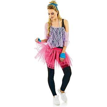 fun shack - Traje de tutú Rosa para Mujer de los años 80, Talla única