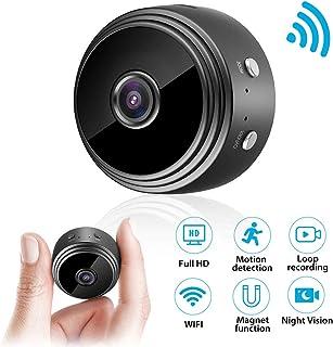 Mini cámara cámara de vigilancia euskDE Wifi Batería Full HD 1080P WLAN Pequeña cámara de niñera con detector de movimiento cámara micro inalámbrica IP