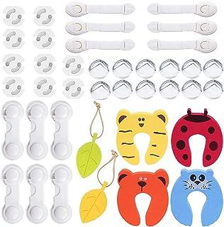 Hemore 5pcs Ispessito di Sicurezza del Tappo del Portello della Protezione di Pizzico della barretta degli Animali del Fumetto colorato Schiuma di Arresto di Portello Cuscino per Il Bambino