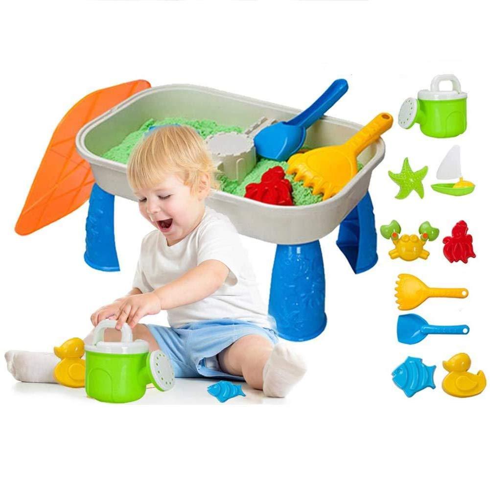 AJH Mesa de Agua para bebé, Juego de Mesa de Arena y Agua multifunción para niños, Mesa de Agua Divertida, Juguetes de Playa de Verano, paraíso al Aire Libre: Amazon.es: Deportes y