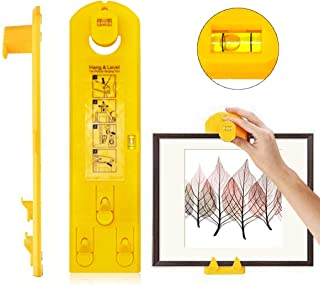 Picture Hanger Tools with Level Suitable for All Wall Materials, Picture Frame Ruler for Marking Position,Makes Frame Hanging Simple & Fast!