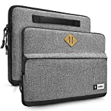 tomtoc Tasche Laptop Schutzhülle kompatibel mit 2018 MacBook Pro 15' Touch Bar mit USB - C/Acer HP Chromebook 14' / Thinkpad 14', Chromebook Notebook Tragetasche Handtasche, Grau