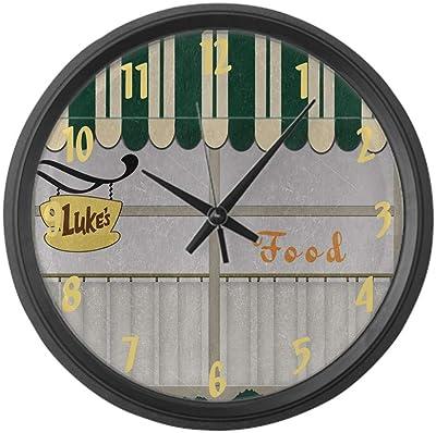 "CafePress Gilmore Girls TV Luke's Diner Large 17"" Round Wall Clock, Unique Decorative Clock"