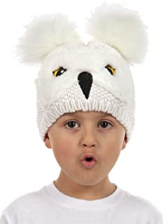 Harry Potter Hedwig Owl Pom Knit Beanie Hat for Toddlers...