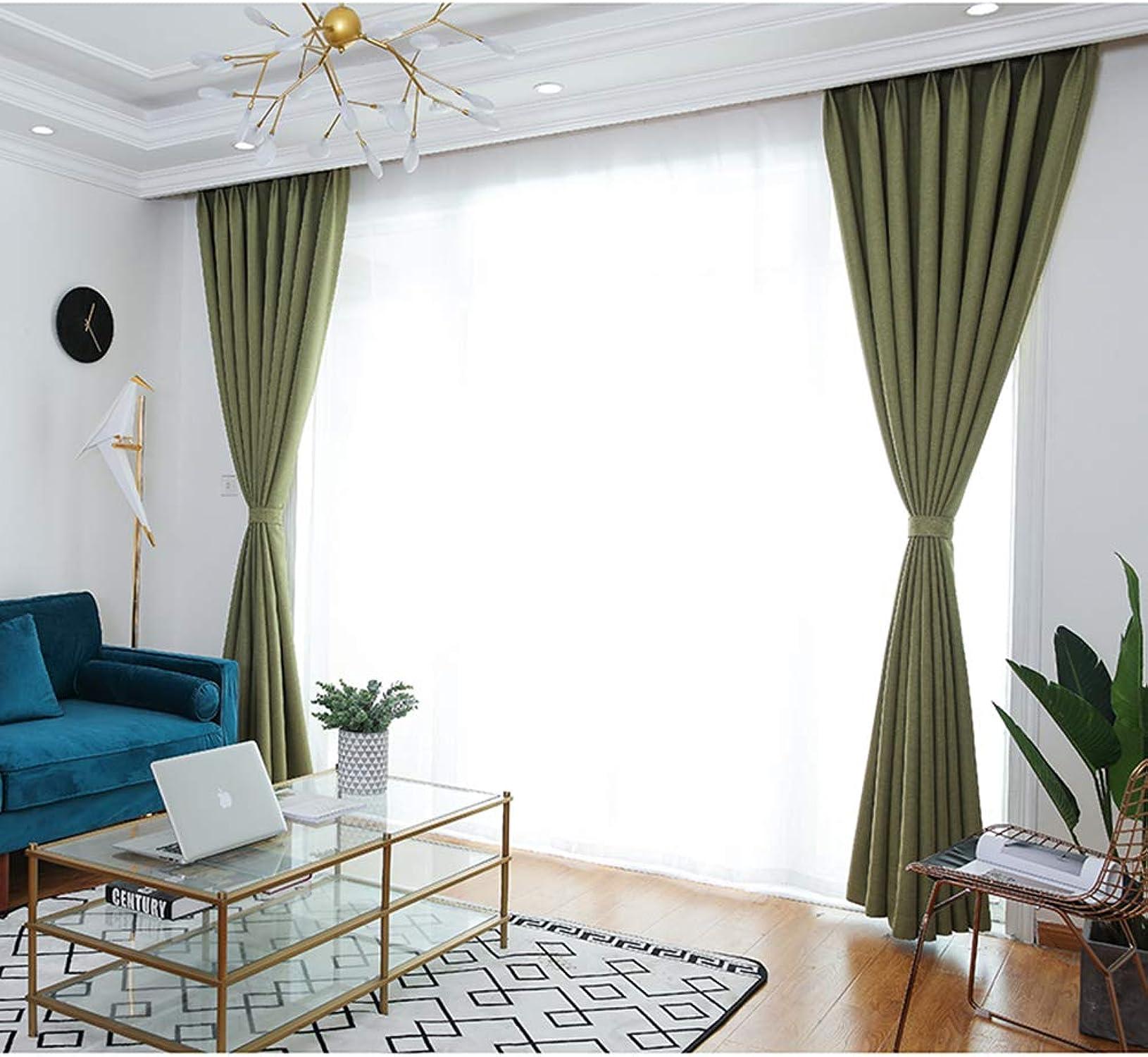 Cortina con aislamiento térmico simple moderna sombrilla apagón dormitorio sala de estar piso cortina lápiz plisado cortina 1 pcs