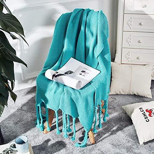 RAQ zachte deken gooi kasjmier haak zachte sjaal sjaal draagbare warme bank bed gebreide roze deken