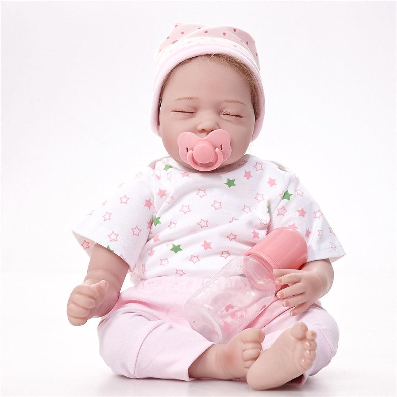 JHGFRT Reborn Babypuppe Simulierte Kinder-Spielzeug Für Kinder Aus Dem Frühen Kindesalter Geschenk Geschlossen Augen Schläft Neugeborenes Baby 55 cm,55cm B07FDVXX9H Elegantes und robustes Menü  | Creative