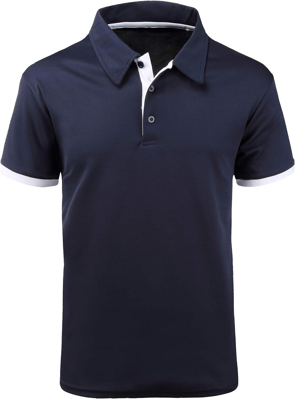 Popular overseas ZITY Regular discount Mens Polo Shirt Cool Quick-Dry Sh Sweat-Wicking Block Color