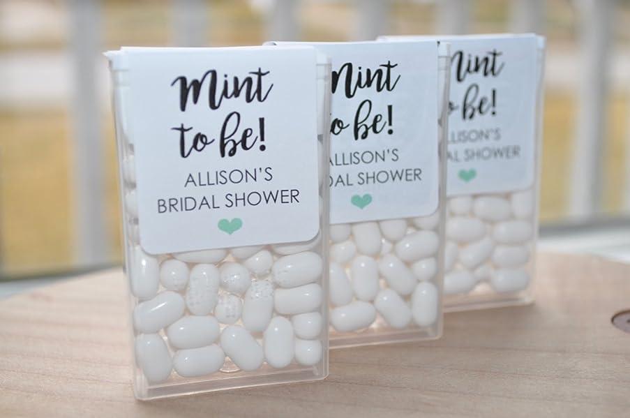 Wedding Favors Tic Tac Labels Mint To Be, Bridal Shower Favors, Bachelorette Party - Set of 24 Labels