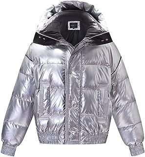 Cloth-yd Women's Novelty Short Down Coat Winter Thicken Stand Collar Down Jacket Warm Premium Parka
