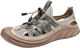 GBZLFH Scarpe da Corsa estive da Uomo, Scarpe da Spiaggia con Foro in Rete, Sneakers Alte con Fondo Morbido Traspirante e ...