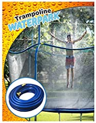 PERFECT for birthday parties or big groups. Imagine setting this up for your kid's party. The kids are going to love you! Plus, it lowers the temperature on the trampoline by up to 25 Degrees! Now getting outside on those hot summer days is back on t...