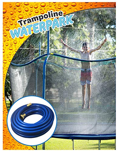Trampoline Waterpark Heavy Duty Sprinkler Hose- Fun Summer Outdoor Water Game Toys Accessories -...