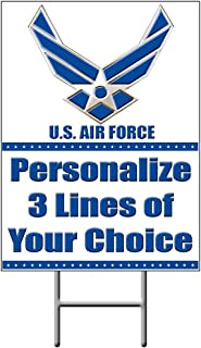 Partypro AIR Force Personalized Yard Sign (Each) - Customized