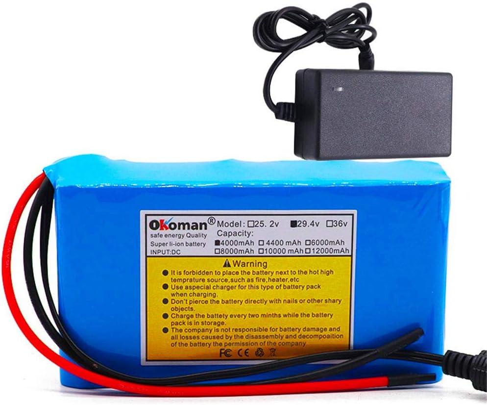 Batería de iones de litio 29,4 v 4Ah 7S2P 18650 batería bicicleta eléctrica ciclomotor/eléctrica/batería de iones de litio + cargador