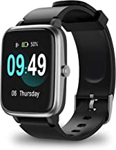 ANBES Smart Watch, IP68 Waterproof Fitness Tracker with Heart Rate Monitor, Step Counter Sleep Tracker Watch, Smartwatch Compatible with iPhone and Android for Women Men