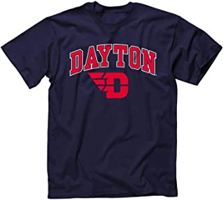 Large,HeatherGrey NCAA Dayton Flyers Adult NCAA Circles Image One Everyday Short sleeve T-Shirt