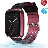 moreFit Fitness Tracker Smart Watch, IP68 Waterproof Fitness Watch Activity Tracker with Heart...