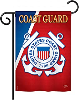 Breeze Decor G158056 Coast Guard Americana Military Impressions Decorative Vertical Garden Flag 13