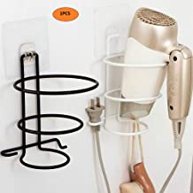 ZEEBLY® Hair Dryer Holder Rack Hair Dryer Storage Organizer, Hair Blower Holder with Hanging & Plug Hook