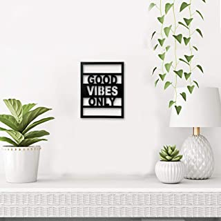 Sehaz Artworks Good Vibes Plaque Sign - Black Wooden Plaque Wall Hangings Home Room & Wall Decor Wall Art