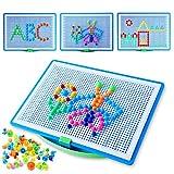 Colmanda Puzzle 3D Mosaico, 296 Pezzi Mosaico Unghie Giocattolo, Chiodini Colorati per Bambini, Gioco dei Mosaici per Regalo di Bambini, Bambini i Giocattoli in Anticipo Educativi (A)