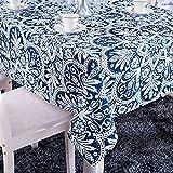 X-Labor - Mantel lavable rectangular, resistente al agua, tejido Oxford, fácil de limpiar, para jardín, habitaciones, decoración de mesa, azul oscuro, 100*140 cm