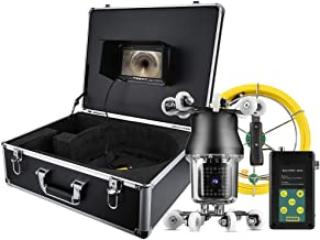 LCD Endoscopic Camera 7in 50M 360° Sewer Industrial Endoscopic IP68 38LED Inspection Drain Pipe Borescope Camera 100-240V UK