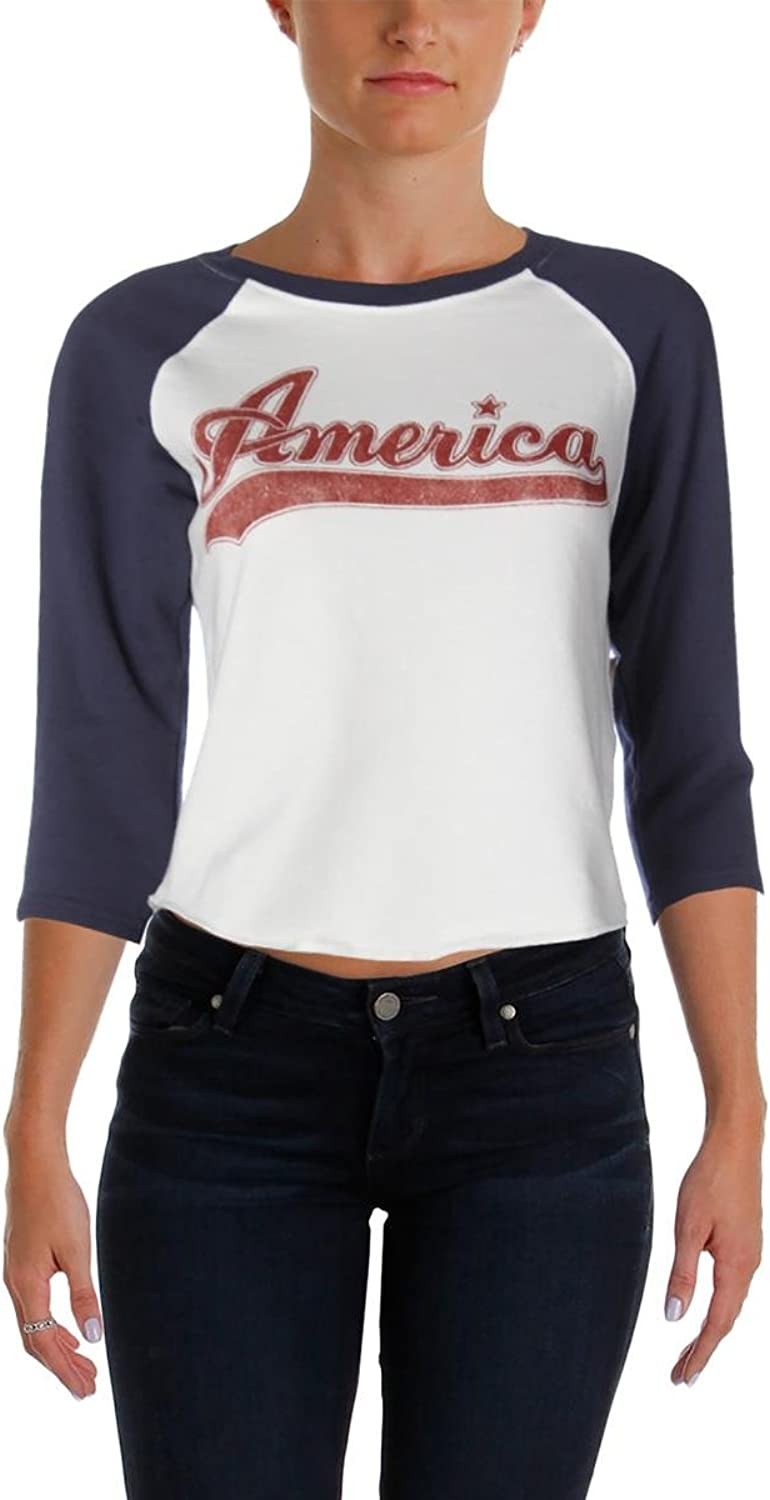 Denim & Supply Ralph Lauren Womens Graphic Scoop Neck Sweatshirt