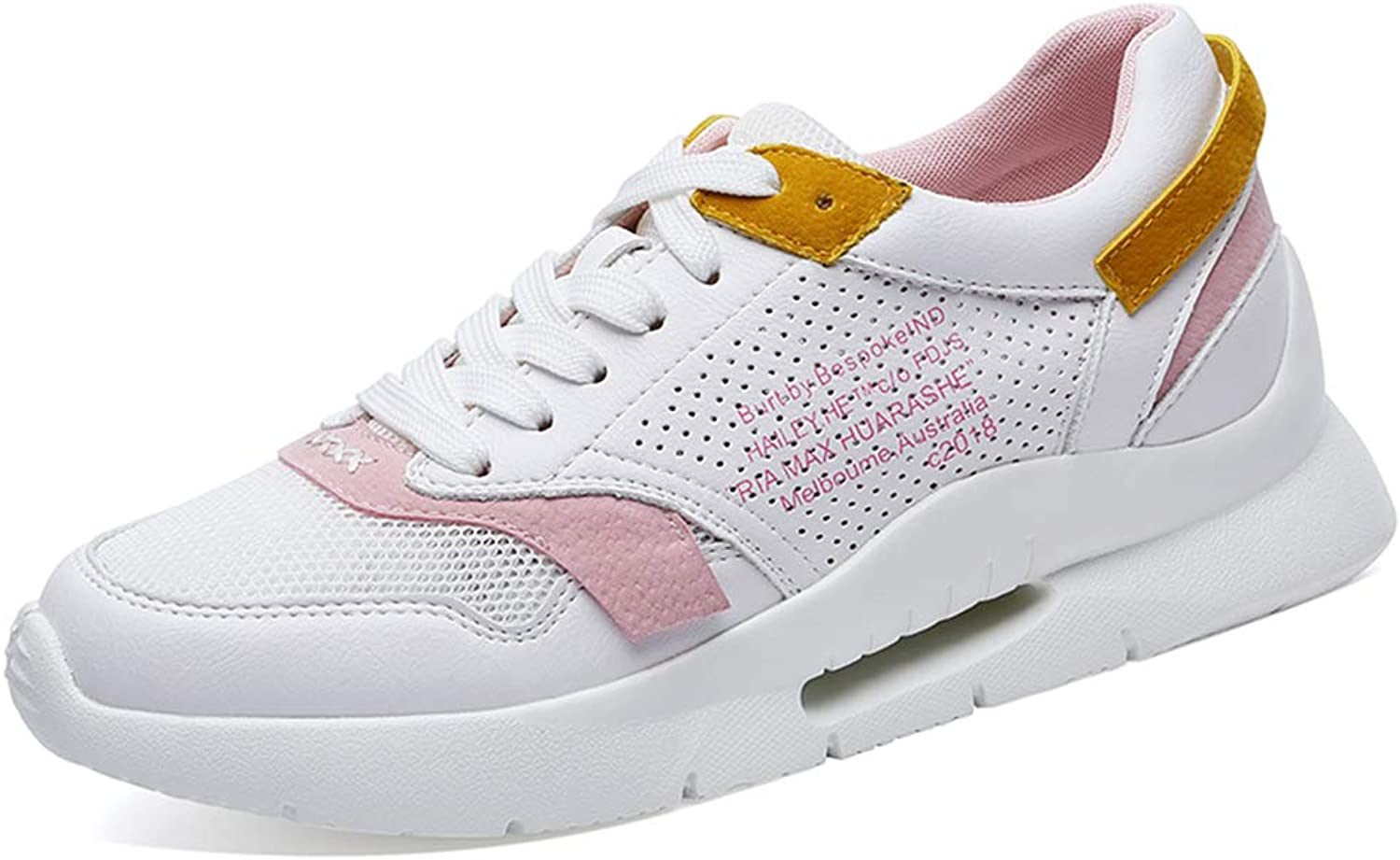 Zarbrina Low Top Platform Sneakers for Women Workout Fitness Round Toe Foam Sole Increased Height Casual shoes