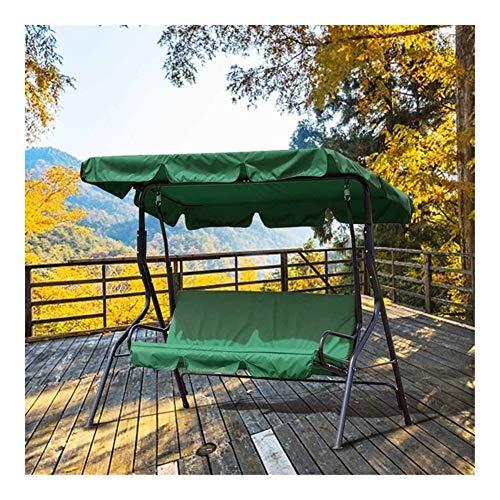 3 Sitzschwenkdeckel Garten Abdeckung Wasserdicht UV-beständig Stuhl Shade Staub/Segel Außenhof Hammock Zelt Schaukel Top Cover (Color : Green)