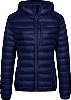 Wantdo Women`s Lightweight Packable Down Jacket Hooded Insulated Puffer Coat